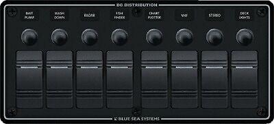 (New Dc Waterproof Circuit Breaker Panel blue Sea Systems 8371 8 Horizontal Black)