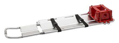 Line2design Scoop Stretcher - Ems Medical Lightweight Aluminum Portable - Silver
