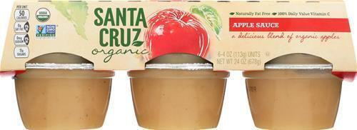 Santa Cruz Organic-Apple Sauce, Pack of 18 ( 4 oz cups )