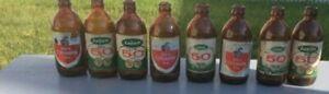 bouteilles vintage Labatt 50, O'Keefe, Coca-cola, Pepsi...