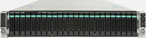 "Intel Server R2224WTTYSR 24x 2.5"" 2x Heatsink 2x 1100W PSU Raid Ctrl H29258-302"