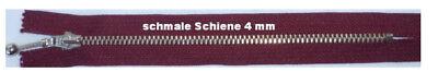 Burgund Metall (Reißverschluss 16 cm burgund nicht teilbar Metall Kugelgriff)