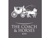 Hotel Receptionist at Coach and Horses, Kew