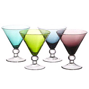 """NEW"" Bombay colored Martini Glasses (5 in total)"