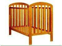 Golden Pine Cot Bed