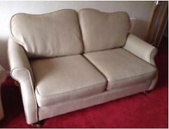 Two seater sofa, chair and stool with storage to match!