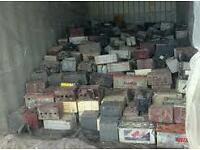 Wanted old car battery's and alloys