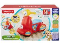 Brand new Fisher price laugh and learn smart stages scooter