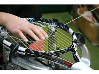Racket re-stringing
