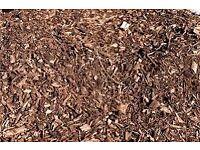 Wood chip bark mulch woodchip