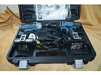 Erbauer twin combi and impact 18v drill set