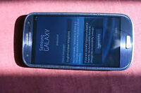 blue samsung S3 cracked screen