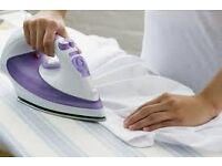 I can do your ironing at a good standard.