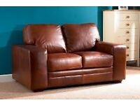 2 Seater Brown leather sofa from John Lewis - Very Comfy and FREE