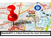 2-3 Bedroom Property in Woking needed for rent in January 18