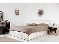 Boston 4ft6 double Ottoman storage Crushed Velvet Bed