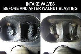 VW AUDI TDI TFSI FSI TURBO DIESEL PETROL INLET VALVES CLEANING WALNUT BLASTING CARBON REMOVAL DECOKE