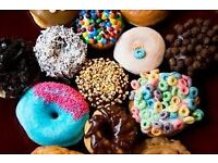 Bakery /Pastry Chef: looking for a bakery chef who has a previous experience of making Donuts.