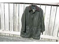 Barbour Northumbria Green Waxed Jacket