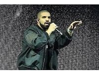 2x seated Drake tickets Manchester MEN Arena 12th Feb Sunday