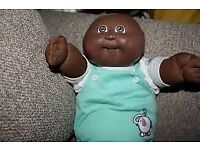"Wanted to buy a doll baby black new born bald ""cabbage patch kids"""