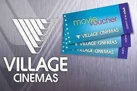 2x Village Cinemas Movie Vouchers Screensavers for Adult Springwood Blue Mountains Preview