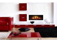 Dimplex Opti-V PGF10 Wall Mounted Inset LCD Electric Fire