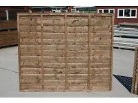 LAWMAC FENCING 6ft x 5ft Waney Lap Larch Lap Fence Panel Leicester £17.90