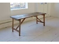 WANTED: vintage trestle/wall paper table