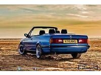 Bmw 318i e30 convertible - neon blue - limited design edition - RARE CAR -