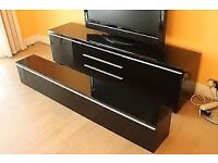IKEA TV Stand with Overhead Unit