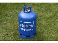£ 15 - EMPTY Calor Gas 15 kg Butane bottle/cylinder exchange/refill *** WITH REGULATOR ***BBQ