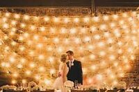 Wanted: String Light Backdrop