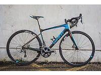 Giant defy advance pro full carbon large frame men's road bike hydraulic disc brakes 105 gearset