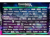 2x Creamfields tickets - 4 Day Camping!!!