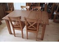 STORNÄS Extendable table include 3 chairs