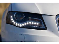 Waterproof white LED's daytime running lights, flexible profile to suit any car, costs £65,only £25