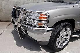PUSH BAR GRILL GUARD STAINLESS CHROME RANGE ROVER 1999 A 2004