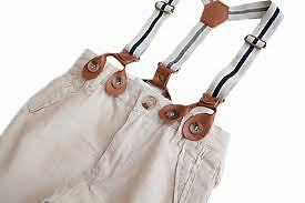 Zara kids linen pants with suspenders-multiple sizes