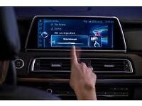 NBT EVO 2016 BMW 7 Series F01 gesture control, touchscreen, silver chrome iDrive