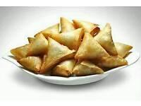 Chicken cheese melt samosas