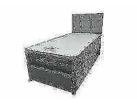 🔵💖🔴Popular Bed Frame🔵💖🔴SINGLE SIZE CRUSH VELVET DIVAN BED BASE WITH OPTIONAL MATTRESS💠