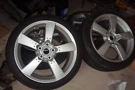 """4 alloy Mazda Rx8 18""""x8"""" Wheels with goodt tyres"""