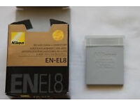 Battery EN-EL8 For Nikon COOLPIX S1 S2 S3 P1 P2 S5 S6 S7 S8 S9 S51 S50 Camera