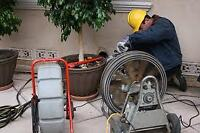 Drains, Snaking, Camera inspection, Power flushing  647-761-2193
