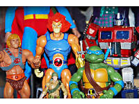 HE MAN, THUNDERCATS, TRANSFORMERS, TEENAGE TURTLES, WWF 80S & 90S ACTION FIGURES TOYS & MORE WANTED!
