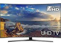 55''SAMSUNG CURVED 4K ULTRA HDR LED TV.2017 MODEL UE55MU6670.FREESAT HD. FREE DELIVERY/SETUP