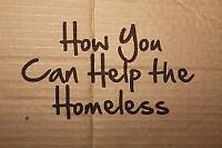 Help the homeless for FREE!