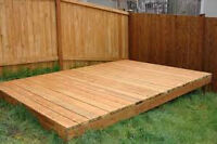 Looking DECK or WOOD to build one.