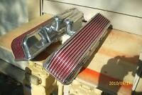 1 pair of SBC Cal Custom finned valve covers,